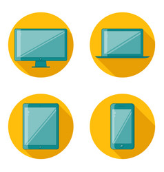flat design device icons vector image