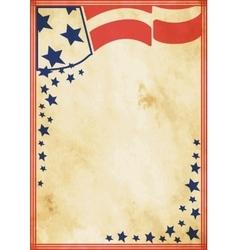 Grunge US vintage poster vector image vector image