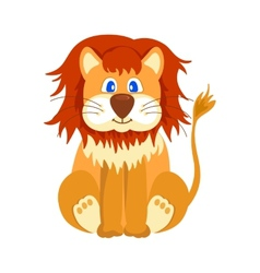 Happy lion cartoon vector image vector image