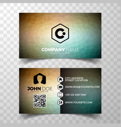 modern abstract business card design template vector image vector image