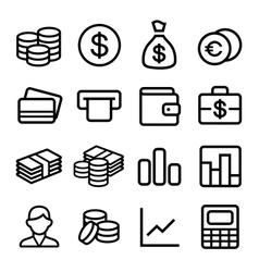 Money ios 7 icon set vector image vector image
