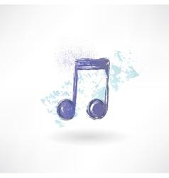 music grunge icon vector image