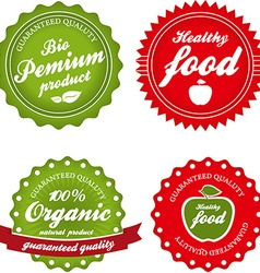organic labels collection vector image