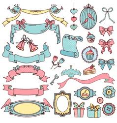 vintage ornaments vector image vector image