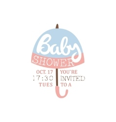 Baby Shower Invitation Design Template With vector image