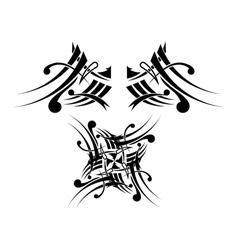 Black-white Tribal Tattoo Design vector image