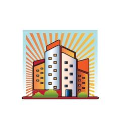 Buildings logo vector image vector image