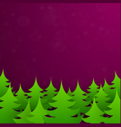 christmas tree forest background vector image vector image