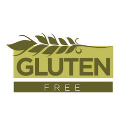 gluten free substance in cereal grains logo design vector image