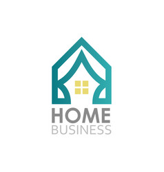 home business logo vector image vector image