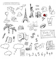 symbols sketch vector image vector image
