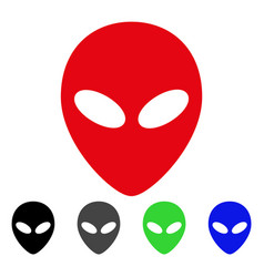 Alien head flat icon vector