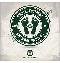 alternative eco footprint stamp vector image