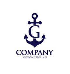anchor letter g vector image