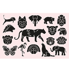 animal symbols set vector image