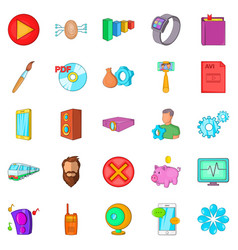 App icons set cartoon style vector