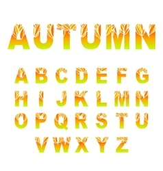 Autumn Leaves Font vector image