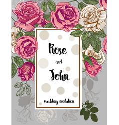 Beautiful card with a roses vector