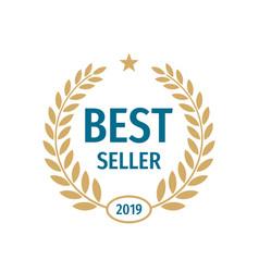 best seller badge logo design vector image