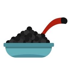 Black caviar icon flat style vector