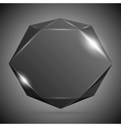 Black Gemstone vector