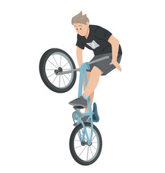 boy riding bicycle teenager on bike vector image