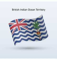 British Indian Ocean Territory flag waving form vector image