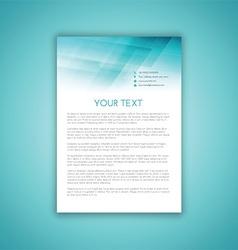 business letterhead template 2406 vector image