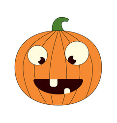cartoon pumpkin vector image
