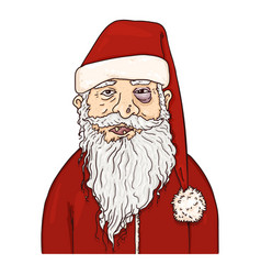 Cartoon santa claus christmas character vector