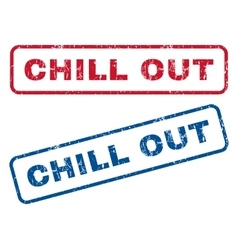 Chill Out Rubber Stamps vector