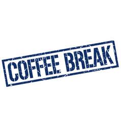 Coffee break stamp vector
