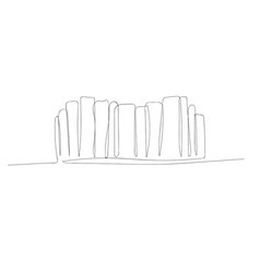 Continuous one line abstract bookshelf vector