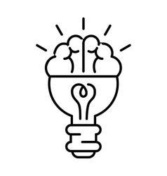 Creative brainstorm icon idea concept background vector image