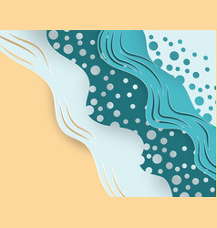 creative summer concept abstract paper art vector image