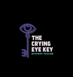 crying eye key abstract sign symbol vector image