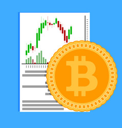 crypto exchange business flat vector image