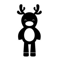 Cute deer character icon vector