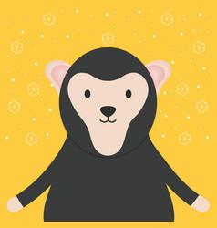 cute monkey adorable character vector image