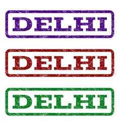 Delhi watermark stamp vector