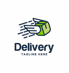 Delivery box logo template vector