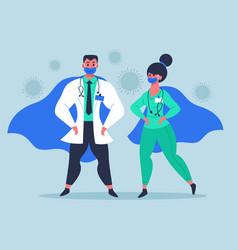 doctor superheroes super doctor characters in vector image