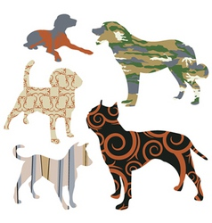 dog design set vector image