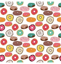donuts seamless pattern vector image
