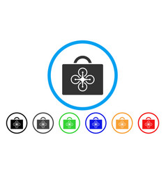 Drone toolcase rounded icon vector