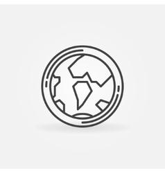 Earth globe concept icon vector