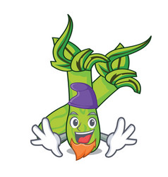 Elf wasabi character cartoon style vector