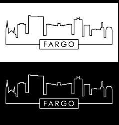 fargo skyline colorful linear style editable vector image