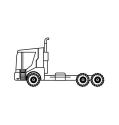 Farm truck trailer agriculture vehicle transport vector