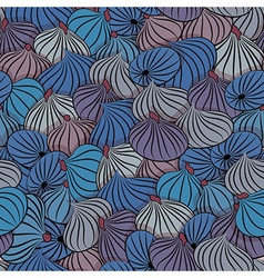 Fig Seamless pattern with figs whole fruit vector image